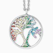 Engelsrufer Halskette Lebensbaum silber mit Zirkonia multicolor