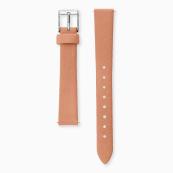 Engelsrufer Ersatz Lederarmband für Damen Uhr 14 mm koralle Verschluss silber
