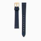 Uhrenarmband Nubukleder nachtblau
