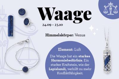 Sternzeichen Waage & der passende Kraftstein Lapislazuli