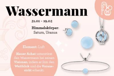 Sternzeichen Wassermann & der passende Kraftstein