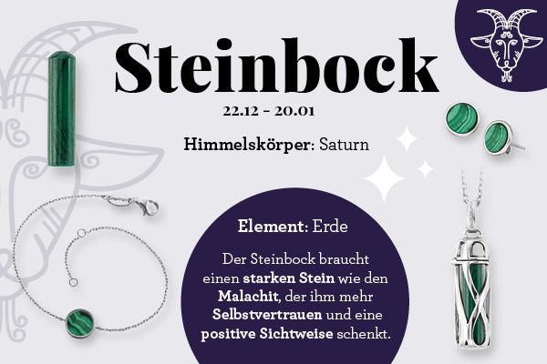 Sternzeichen Steinbock & der passende Kraftstein Malachit